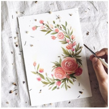 Watercolour Floral Wreath Workshop [19 Jan 2019]