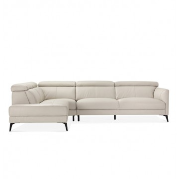 Mustaine L-shaped Sofa (Leather)