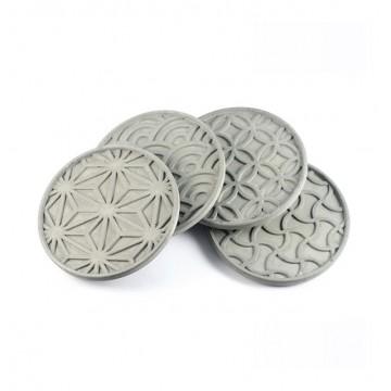 Japanese Pattern Coasters (Set of 4)