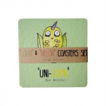 Corn & Melon Coaster Set