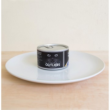 Canned Food Clock: Seafood & Vegetables Cat Food