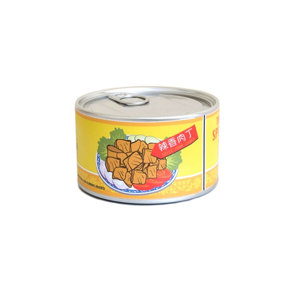 Canned Food Clock: Spicy Pork Cubes