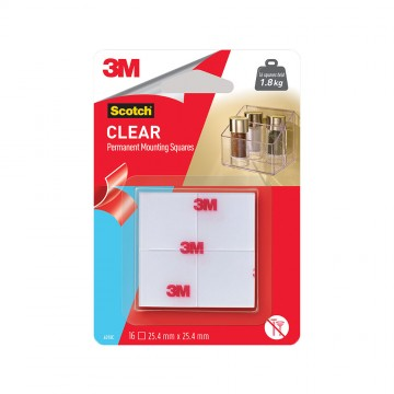Scotch™ Indoor Clear Mounting Tape Square