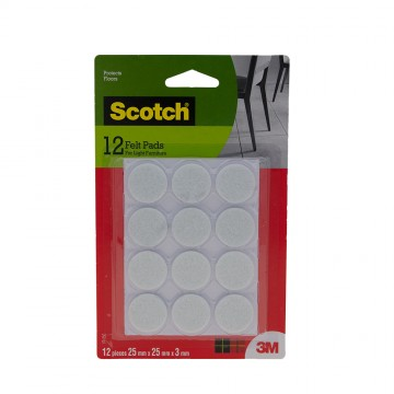 Scotch™ Felt Pad Round  (12 Pieces)