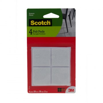 Scotch™ Felt Pad Square  (4 Pieces)