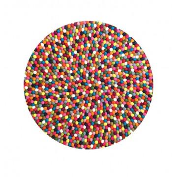 Felt Balls Rug (Skittles)