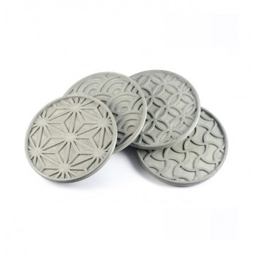 Japanese Pattern Coasters (Set of 4)