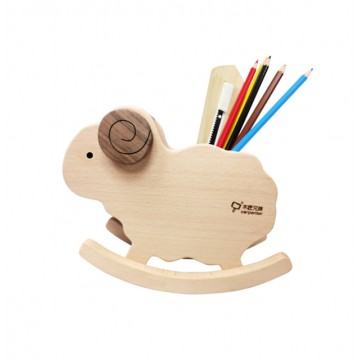 Rocking Sheep Wooden Pen Holder
