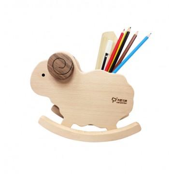 Rocking Sheep Wooden Pen Holder
