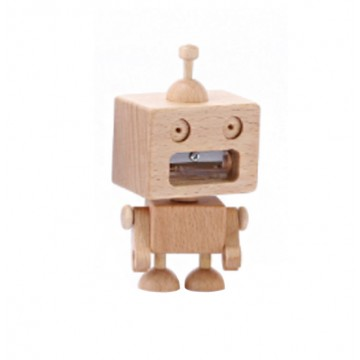 Wooden Robot Pencil Sharpener