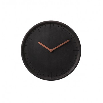 Meter: Wall Clock (Black Woodstained Beech)