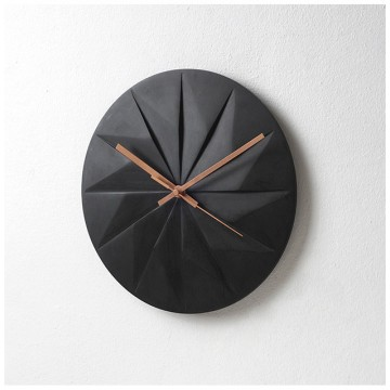 Shady: Wall Clock (Black Woodstained Maple)