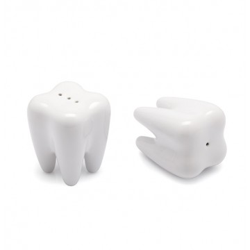 Tooth Salt & Pepper Shaker