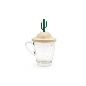 All Season Glass Mug and Lid/Holder (Summer)