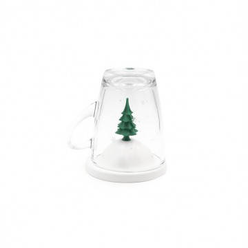 All Season Glass Mug and Lid/Holder (Winter)