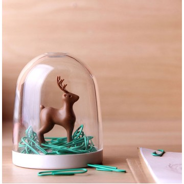 Deer In A Forest Paper Clip Holder