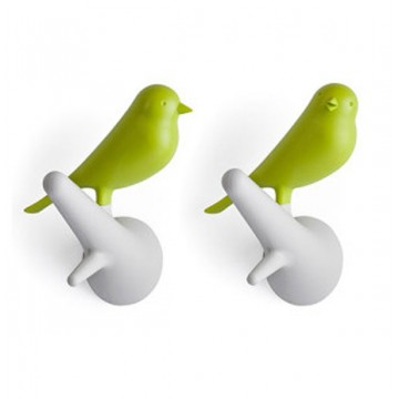 Sparrow Wall Hooks (Green)