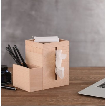 Zen Tissue Box & Desk Organizer