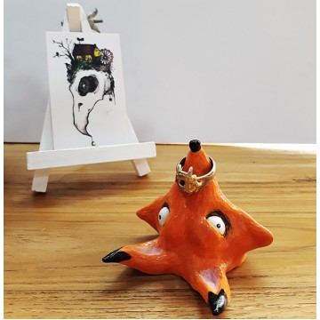 Fox Head Ring Holder