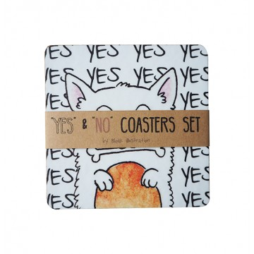 Yes & No Coaster Set