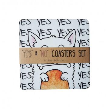 Yes & No Coaster Set