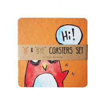 Hi & Bye Coaster Set