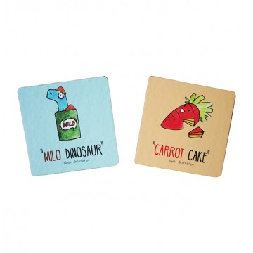 Milo & Carrot Coaster Set