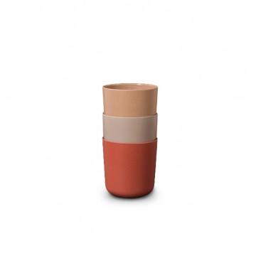 Kids Bamboo Cup 3-pack: Fog/Rye/Brick
