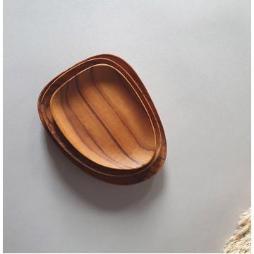 Teak Wood Handmade Large Plates