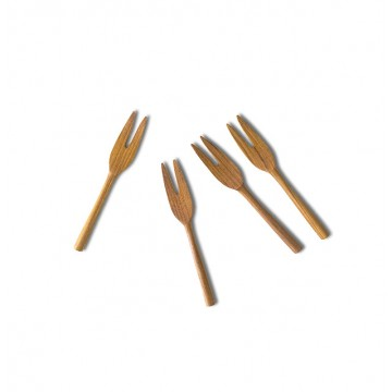 Teak Wood Handmade Dessert Forks (4 pieces)