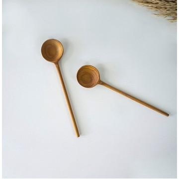 Teak Wood Handmade Round Spoons