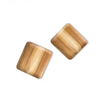 Teak Wood Handmade Square Plates