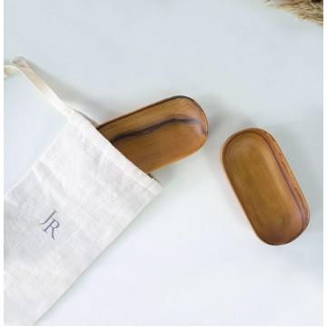 Teak Wood Handmade Oval Plates