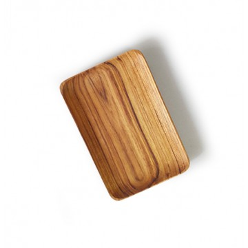 Teak Wood Handmade Rectangular Plates