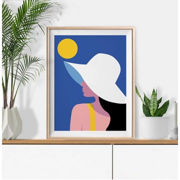 Summer Hat Art Print