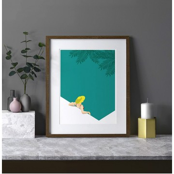 Tropical Bathing Art Print