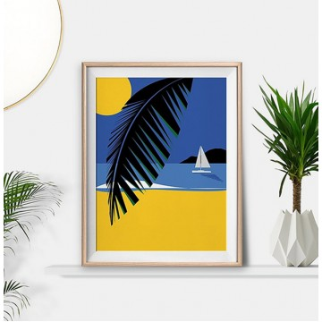 Tropical Island Life Art Print