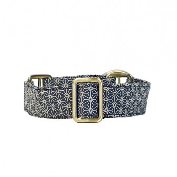 Blue Asanoha Martingale Collar