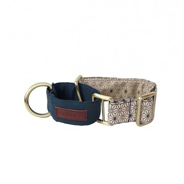 Cream Asanoha Martingale Collar