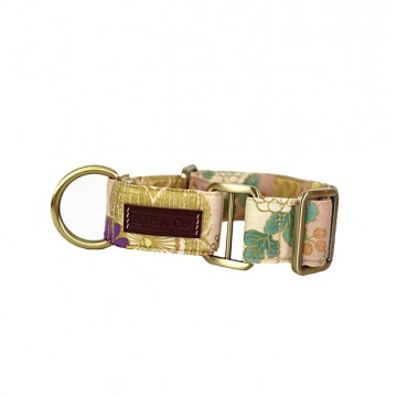 Gold & Pink Cherry Blossom Martingale Collar
