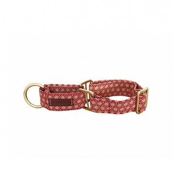Red Asanoha Martingale Collar