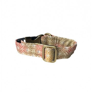 Shades Of Champagne Gold And Pink Fireworks Clip-on Collar