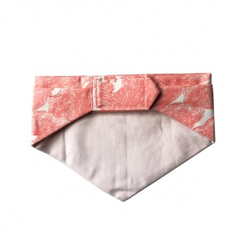 White Swallow with Pink Background Bandana
