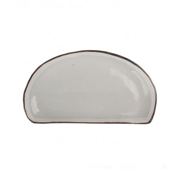 Irregular Half Moon Serving Plate