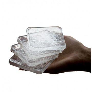 Seigaha Glass Coaster Set