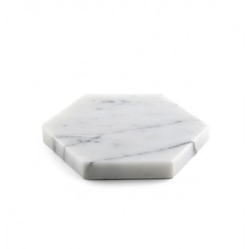 Hexagonal Marble Coasters (Set of 4)