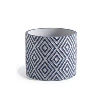 Blue Diamond Plant Pot