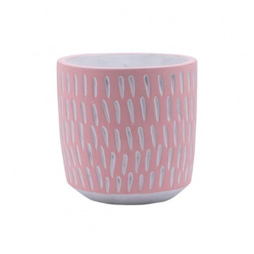 Pink Feathered Plant Pot