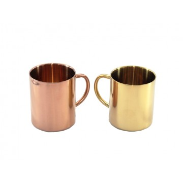 Copper and Gold Mugs