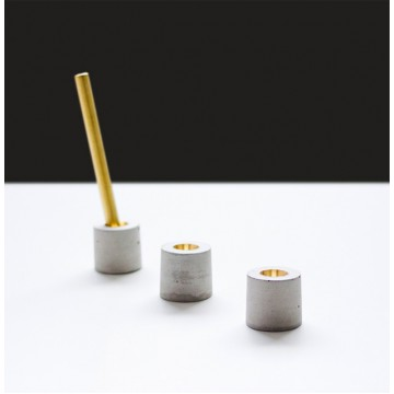 Concrete + Brass Pen Holder